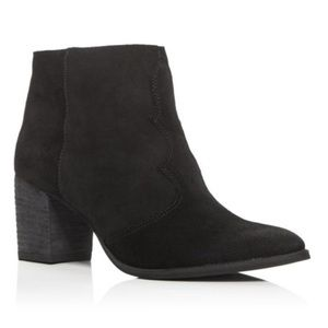 Dolce Vita Suede Black Booties